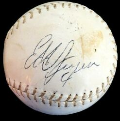 The King And His Court Eddie Feigner West Jackson Berger Signed Softball Jsa Loa