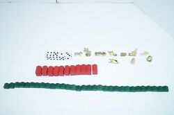 1998 Monopoly Deluxe Edition Replacement Game Pieces With Hotels Houses And Dice