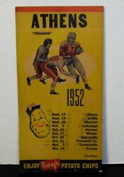 Athens, Ga Trojans-orig. 1952 High School Football Schedule Poster-lay's Chips