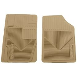 51173 Husky Liners Floor Mats Front New Tan For Chevy Coupe Sedan Toyota Camry