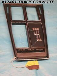 1969 Corvette Console Plate Assembly Gm 3956071 3954530 Manual No Air