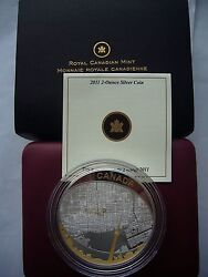 Great Holiday Gift Zoom In Birdsand039 Eye View Toronto Silver Proof Map Coin