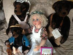 Goldilocks And 3 Bears Handcrafted Set By Donna Hodges And Julia Rueger 3/24