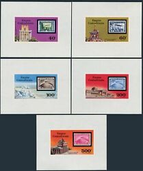 Central Africa 295-296,c184-c186 Deluxe Sheets,mnh. Zeppelin,75th Ann.1977.