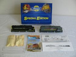 Vintage Athearn Ho Csx Repaints Landn Gp38 Powered And Seaboard Cost Line Dummy Nos