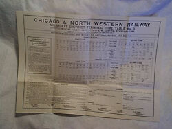 1957 Chicago And Northwestern Railroad Milwaukee,butler Time Table,wisconsin,train
