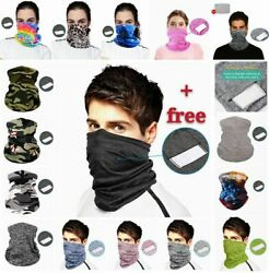 Face Mask Bandana Cover Reusable Washable Scarf Neck Gaiter with Pocket 1 Filter $7.86