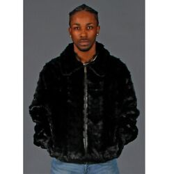 Sale Ranch Mink Fur Sections Jacket With Lamb Leather- Size 42