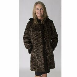 Clearance Reversible Mink Fur Sections Parka- Size 10