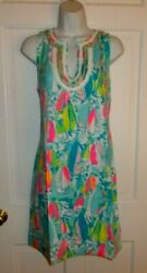 NWT LILLY PULITZER MULTI BEACH AND BAE HARPER SHIFT LARGE $89.99