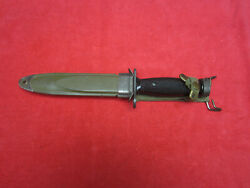 Us M1-carbine Plastic Handle Imperial Bayonet And Scabbard