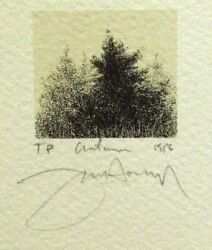 Frank Howellautumn Tree1986 Hand Signed Lithograph On Paper Make An Offer