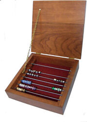9 Rod Cherry Amish Bead Storage Box With Lid For Trollbeads Chamilia And Others