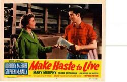 Make Haste To Live 1954 Original Release Lobby Card Dorothy Mcguire ++