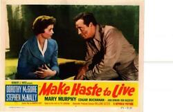 Make Haste To Live 1954 Original Release Lobby Card Dorothy Mcguire ++++