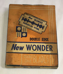 Antique Store Display Box Of New Wonder Razors Complete With 20 Packs