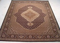 Traditional 8and039 X 10and039 New Very Popular Osmanabad Wool And Silk Area Rug B-70035