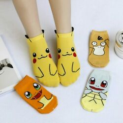 Harajuku Cartoon Character Cute Short Socks Women Fashion Cute Patterend Ankle S $6.99