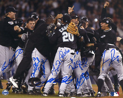 2003 Marlins World Series Champions Autographed 8x10 Photo
