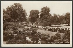 Postcard Central London Crowd At The Dell In Hyde Park Early Rp