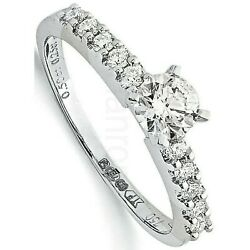 Certificated Diamond Solitaire Ring 18 Carat White Gold 0.75ctw Large Sizes R-z