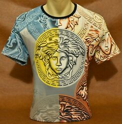 Brand New With Tags Men#x27;s VERSACE Short Sleeve T SHIRT $21.90