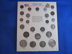 Us 20th Century Type Coins Set Silver B4521