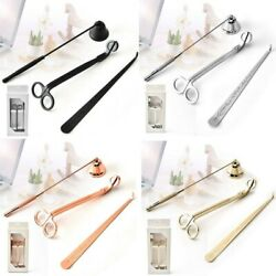 3in1 Stainless Steel Candle Extinguisher Set Candle Snuffer Wick Trimmer