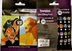 Disney Collectible Pin Pack Good Vs Evil Mystery Bag Of 5 Pins Sealed New
