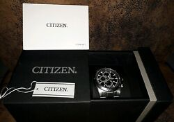 Citizen Chronograph Wr100 0510-s088127 Gold Silber Armband Uhr In Ovp