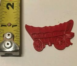 Vintage Cracker Jack Gumball Prize Toy Red Covered Wagon Premium
