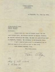 Calvin Coolidge - Typed Letter Twice Signed 06/10/1932