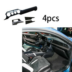 For Ford Mustang 2015-2020 Dry Carbon Fiber Middle Console Dashboard Strip Trim