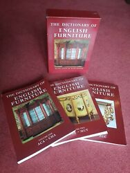 The Dictionary Of English Furniture Revised By Ralph Edwards. 3 Volume Box Set