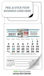2021 Magnetic Business Card Calendars - Real Estate Ver. 4301 - Free Shipping