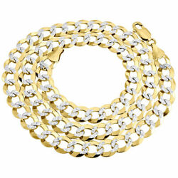 Real 10k Yellow Gold Solid Diamond Cut Cuban Link Chain 9.50mm Necklace 20-30