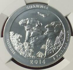 5 Oz .999 Fine Silver Shawnee Proof Like Early Release Atb 2016 Ngc Ms 69 Pl