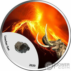 Laacher See Volcano Mountains Fire 1 Oz Silver Coin 1000 Francs Cameroon 2020