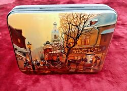 Russian Lacquer Box With Artistic Hand-painted Old Moscow