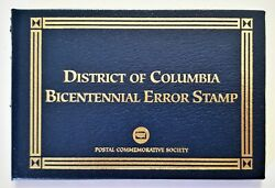 1991 District Of Columbia Bicentennial Engraved Omitted Error Stamp In Folio Sc