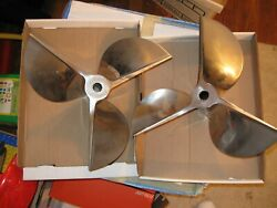 Mint Set Of 16 X 22 Stainless Racing Props