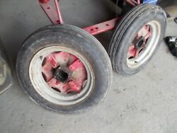 Mccormick Deering Farmall F30 F20 Tractor Front Rims And 5.50 X16 Tires