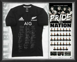 New Zealand All Blacks 2017 Squad And Coach Signed Jersey Edition 1 Of 200