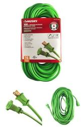 16/2 Cable Extension Cord Outdoor 100ft Green Vinyl Power Wire Gauge Line Socket