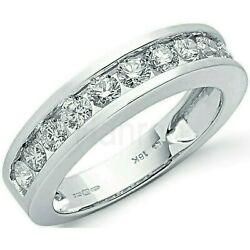 Certificated Diamond Eternity Ring 1.00ctw Channel Set White Gold Large Size R-z