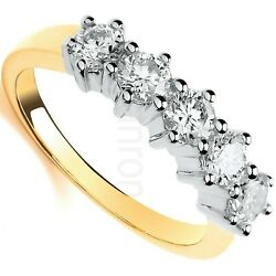 Certificated Diamond Eternity Ring 1.00 Carat 18k Yellow Gold Large Size R - Z