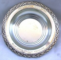 6 1/2 X 1 2/5 Inch Antique Wallace Kadosh Solid Pure Sterling Silver Bowl As113