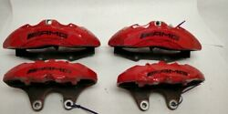 Red Left And Right Front Rear Caliper 218421509880 Fits 15 Mercedes E63 W212 Oem