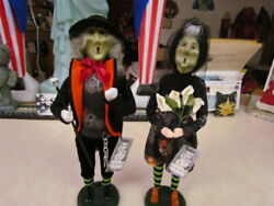 2020 Byers Choice Exclusive Halloween Bride And Groom - Axel And Rose - New