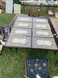 Eight Antique Placemats And Table Runner